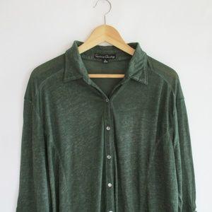 French Laundry Burnout Buttondown Shirt Size 1X